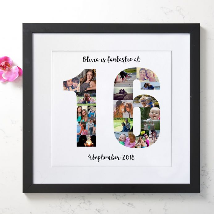 Personalised 16th Birthday Photo Collage